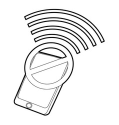 Gadget no wi-fi icon outline style vector