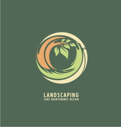 Landscaping logo design concept vector image vector image