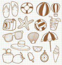 summer travel accessory vector image