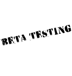 Beta testing stamp vector image vector image