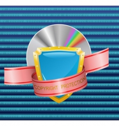 copyright protection vector image vector image