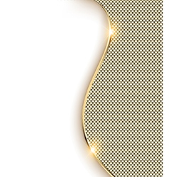 gold background with a wave and shine vector image