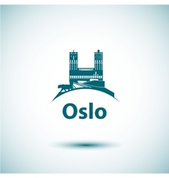Linear Oslo City Silhouette vector image vector image