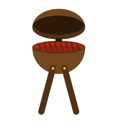 bbq party grill icon isolated vector image