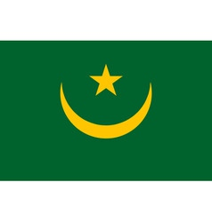 mauritanian flag vector image vector image