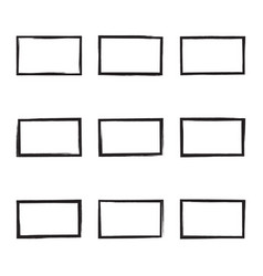 Set hand drawn square vector