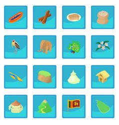 sri lanka icon blue app vector image vector image