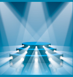 blue concert scene with projector lighting vector image