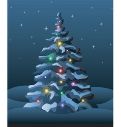 Christmas tree elements vector image vector image