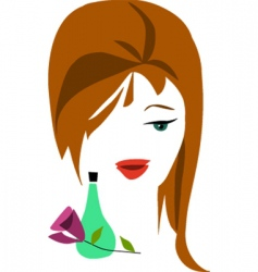 cosmetics and beauty products vector image vector image
