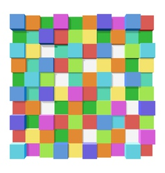 Cubes at different levels as an abstract vector image vector image