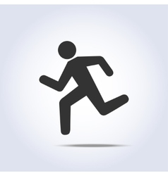 running human icon vector image vector image