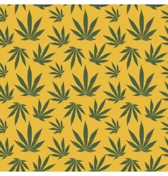 seamless pattern of cannabis leaf vector image