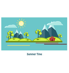 summer flat design vector image