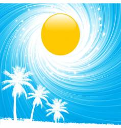summer sky and palm trees vector image vector image