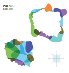 abstract color map poland vector image