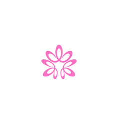abstract flower decorative logo vector image