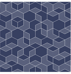 Abstract geometric elegance pattern with white vector