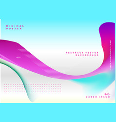 Abstract wavy poster design background vector