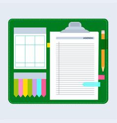 Agenda note set vector