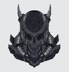 Alien predator colored art vector
