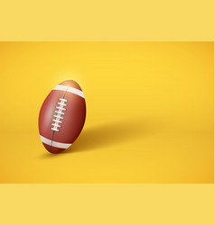 American football ball on pastel yellow background vector
