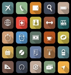 Application flat icons with long shadow Set 2 vector
