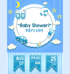 Bashower invitation card template vector