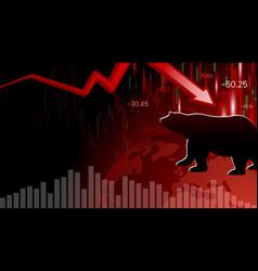 Bear market design economic crisis vector