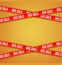 Big sale red banners vector