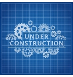 Blueprint website backdrop Under construction vector
