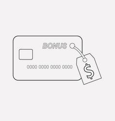 bonus card icon line element vector image