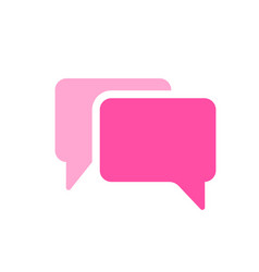 Bubbles chats messages icon vector