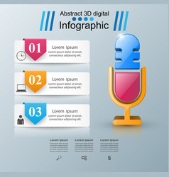 business infographics microphone icon vector image