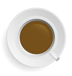 coffee morning coffee in cup and on top of saucer vector image