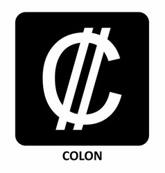 colon currency symbol vector image