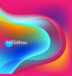 colorful elegant liquid waves abstract background vector image