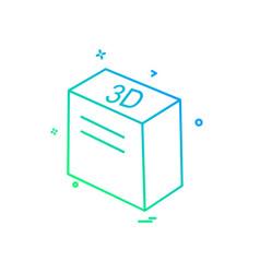 cube icon design vector image