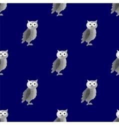 Dark Polygonal Owl Seamless Pattern vector image