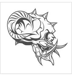 Demon Skull on white vector image