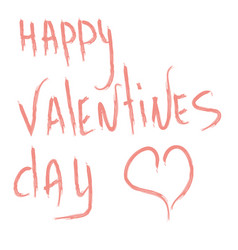 design of text on valentines day celebration vector image