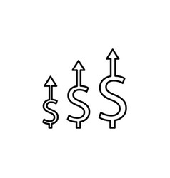 dollar up arrow icon element of finance signs vector image