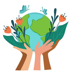 Ecological awareness and care for planet earth vector