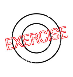 Exercise rubber stamp vector