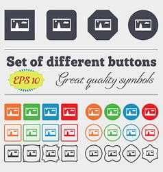File JPG sign icon Download image file symbol Big vector