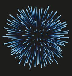 fireworks blue on a black background vector image