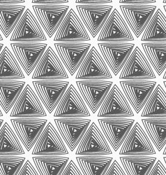 Flat gray with hatched triangles vector image