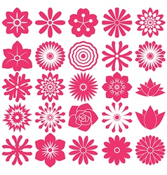 Flower symbol icon vector
