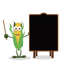 Funny Corn and a Blackboard vector image
