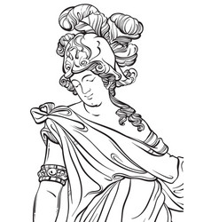 greek god in line style great template for vector image